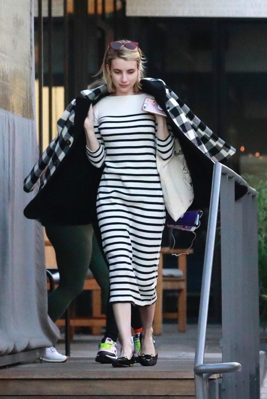 EMMA ROBERTS Out for Dinner in Los Angeles 12/30/2018