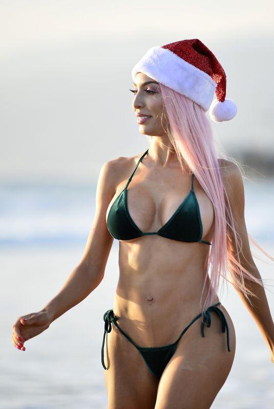 FARRAH ABRAHAM in Bikini at Beach Photoshoot 12/23/2018
