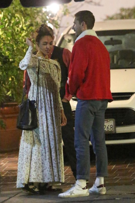 FKA TWIGS and Shia Labeouf Out for Dinner 12/24/2018