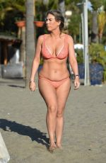 FRANKIE ESSEX in Bikini at a Beach in Tenerife 12/22/2018
