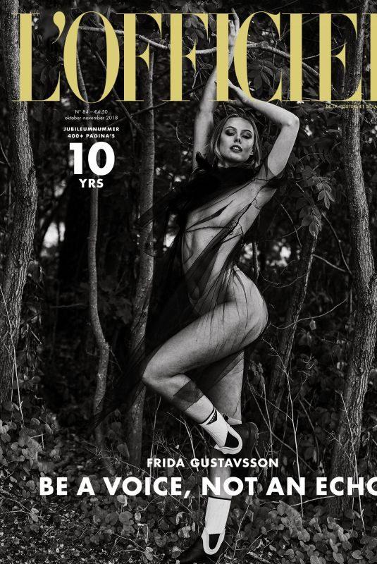 FRIDA GUSTAVSSON in L'Officiel Magazine, Netherlands October/November 2018
