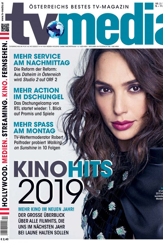 GAL GADOT on the Cover of TV Media Magazine, January 2019