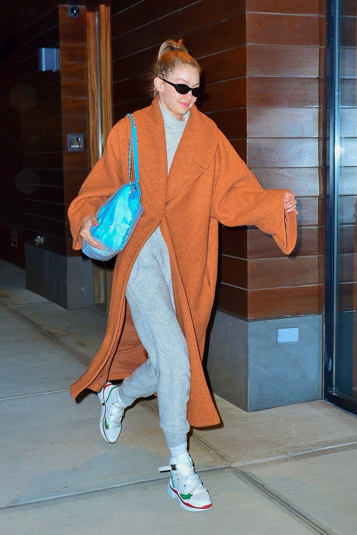 GIGI HADID Leaves Her Apartment in New York 12/06/2018