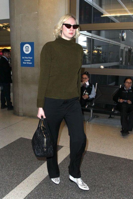 GWENDOLINE CHRISTIE at Los Angeles Intenational Airport 12/12/2018