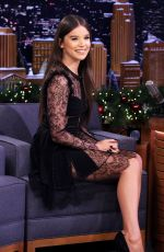 HAILEE STEINFELD at Tonight Show with Jimmy Fallon in New York 12/19/2018
