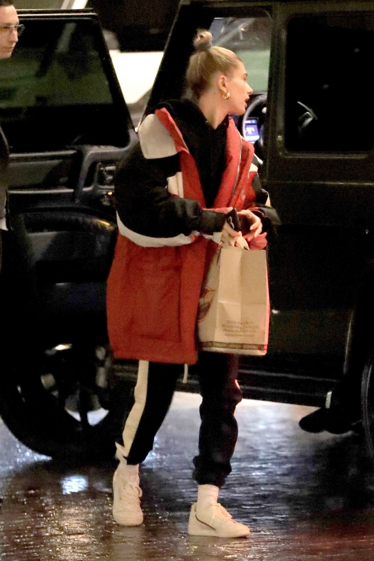HAILEY BIEBER at Nate n Al's in Beverly Hills 12/06/2018
