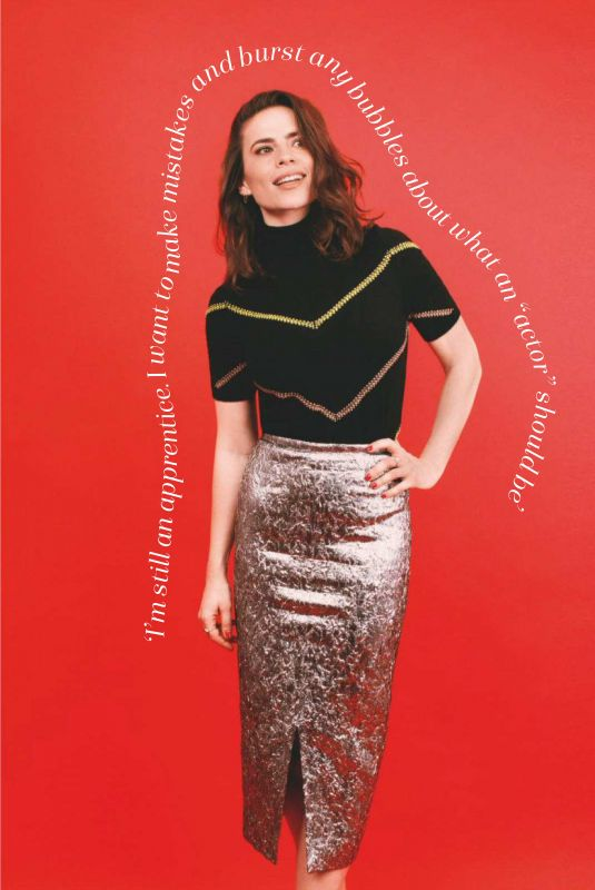 HAYLEY ATWELL in Marie Claire Magazine, UK January 2019
