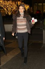 HILARIA BALDWIN Arrives at Late Night with Seth Meyers in Los Angeles 12/06/2018