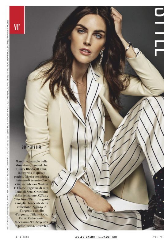 HILARY RHODA in Vanity Fair Magazine, Italy December 2018