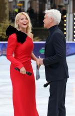 HOLLY WILLOGHBY at Dancing on Ice Show in London 12/18/2018