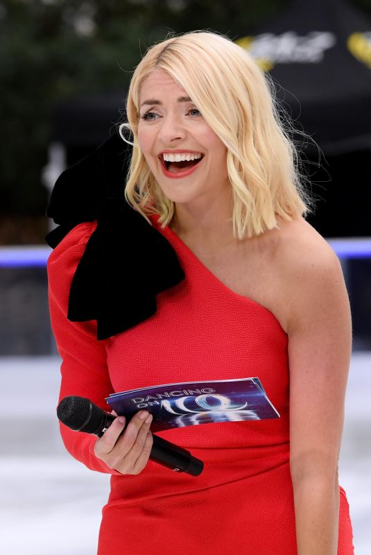 HOLLY WILLOGHBY at Dancing on Ice Show Photocall in London 12/18/2018