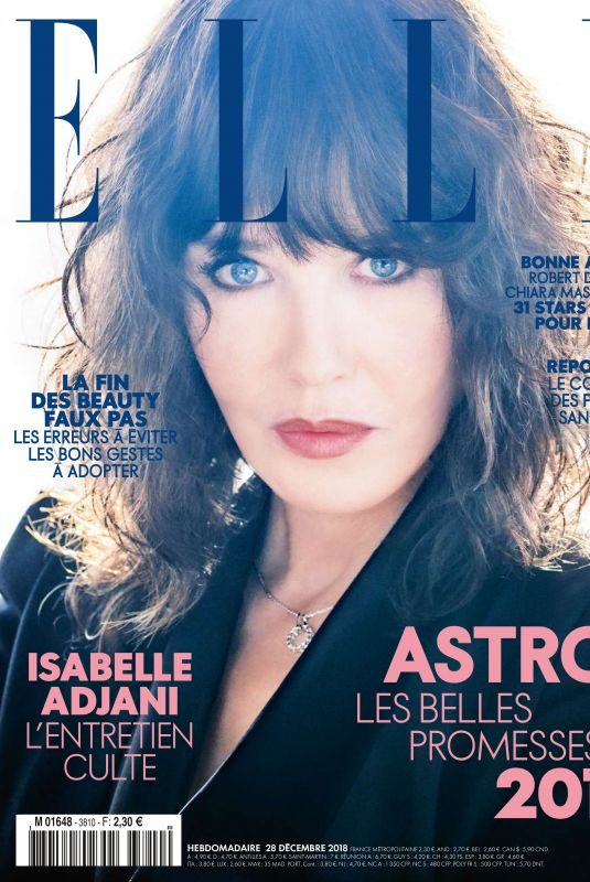 ISABELLE ADJANI in Elle Magazine, France December 2018