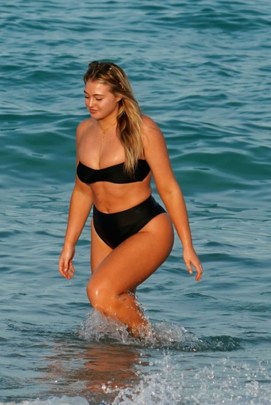 ISKRA ALWRENCE in Bikini at a Beach in Miami 12/10/2018