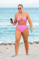 ISKRA LAWRENCE in Bikini at a Beach in Miami 12/09/2018