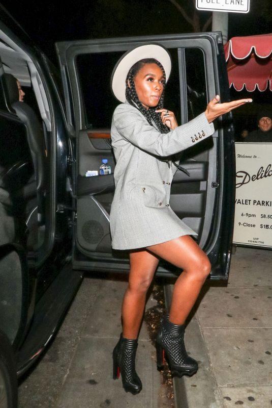 JANELLE MONAE at Delilah Nightclub in Los Angeles 12/10/2018