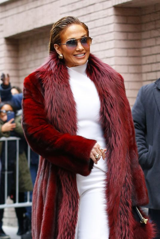 JENNIFER LOPEZ Leaves The View in New York 12/12/2018