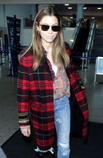 JESSICA BIEL at Los Angeles International Airport 12/08/2018