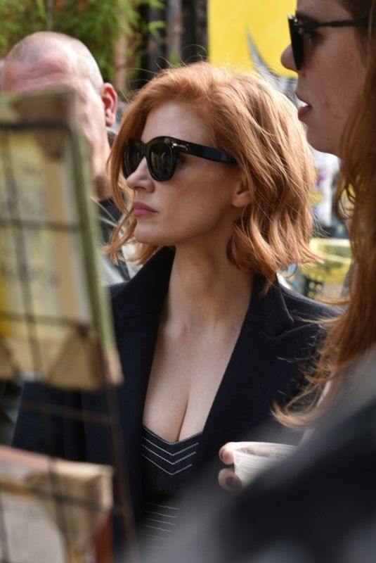 JESSICA CHASTAIN Out on Batman Alley in Sao Paulo 12/08/2018