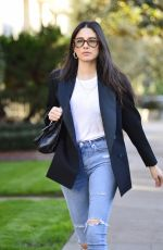 JESSICA GOMES in Ripped Denim Out in Los Angeles 12/21/2018