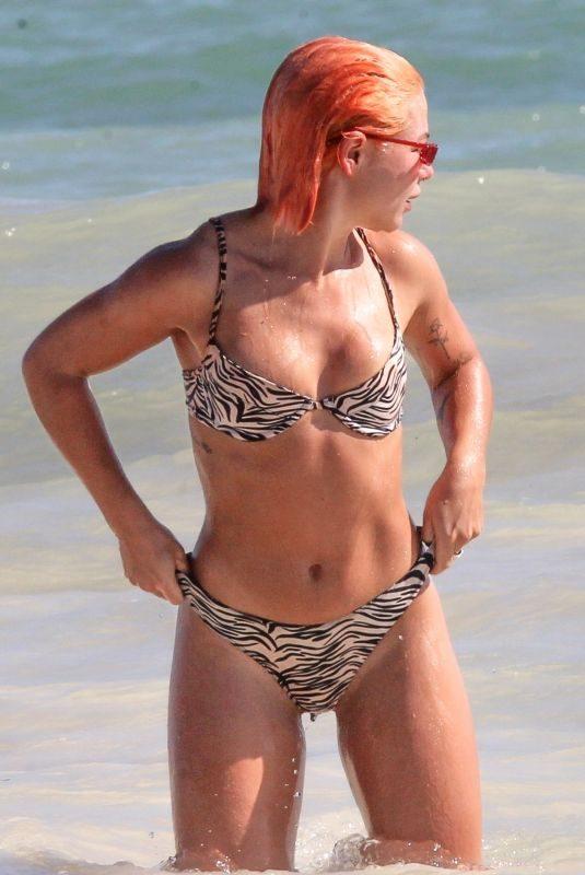 JESSICA WOODLEY in Bikini at a Beach in Tulum 12/12/2018
