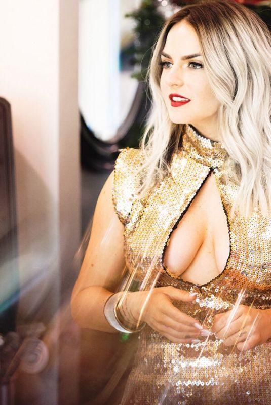 JOANNA JOJO LEVESQUE in a Golden Dress, Instagram Picture