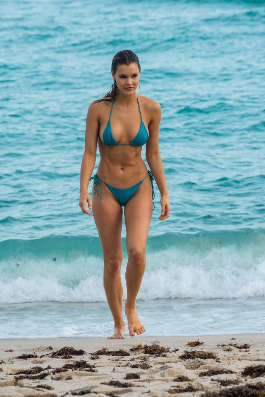 JOY CORRIGAN in Bikini at a Beach in Miami 12/13/2018
