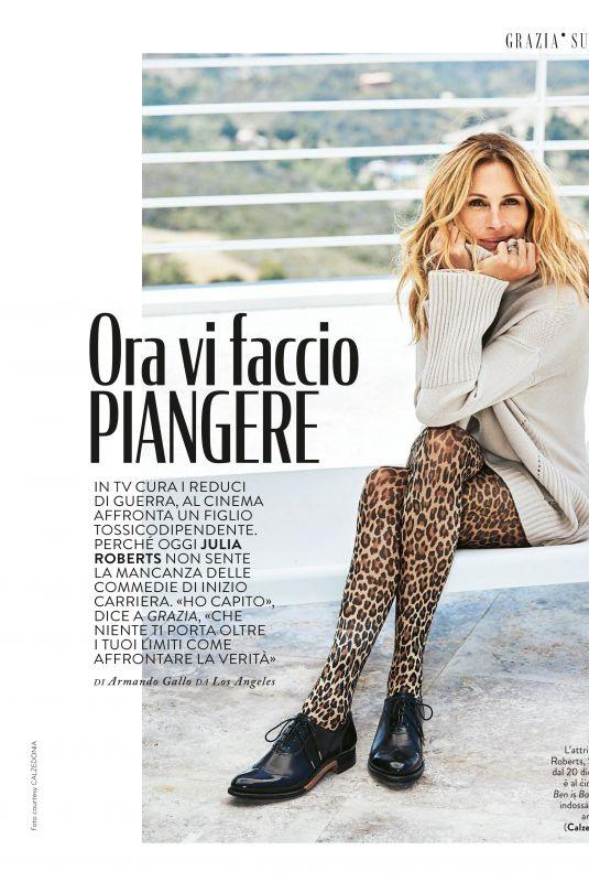 JULIA ROBERTS in Grazia Magazine, Italy December 2018