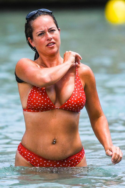 KAREN DANCZUK in Bikini at a Beach in Spain 12/29/2018