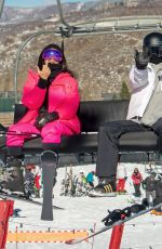 KIM KARDASHIAN and KENDALL JENNER Out at Slopes in Aspen 12/29/2018