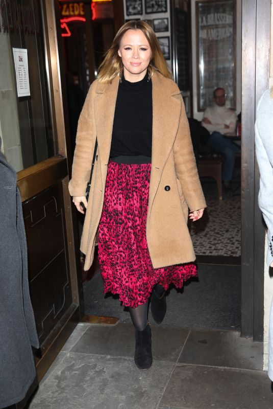 KIMBERLEY WALSH Arrives at Gaby Roslin Special Christmas Show in London 12/09/2018
