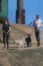 KRISTEN STEWART and SARA DINKIN with Their Dogs Out Hikking in Los Feliz 12/22/2018