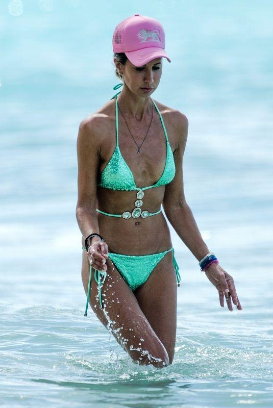 LADY VICTORIA HERVEY in Bikini at a Beach in Barbados 12/31/2018