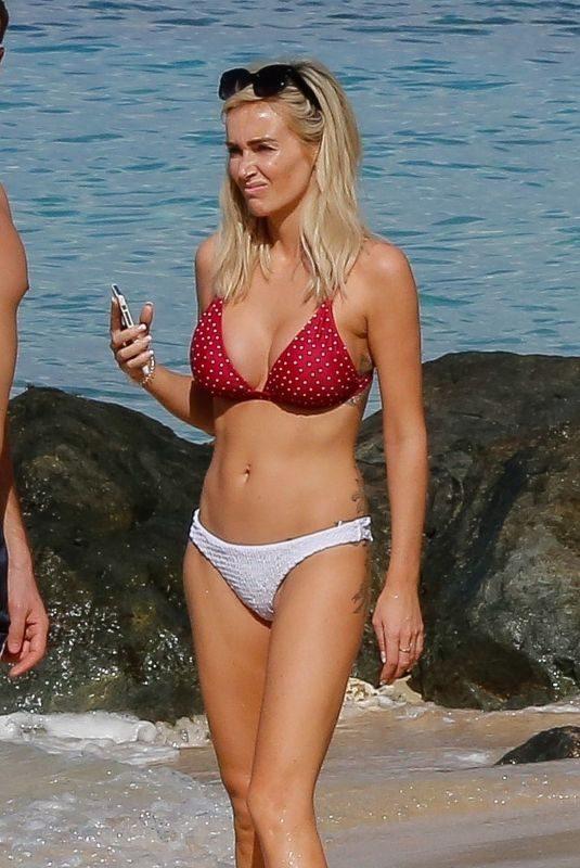 LAURA ANDERSON in Bikini at a Beach in Barbados 12/07/2018