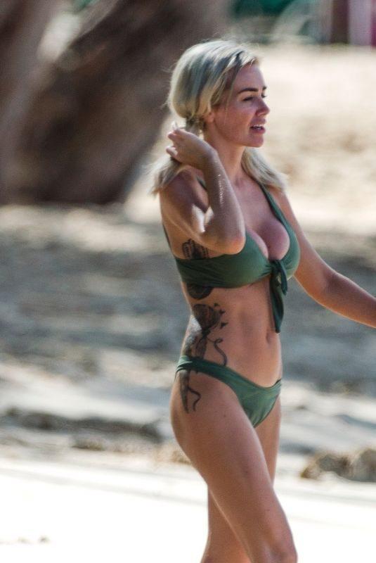 LAURA ANDERSON in Bikini at a Beach in Barbados 12/10/2018