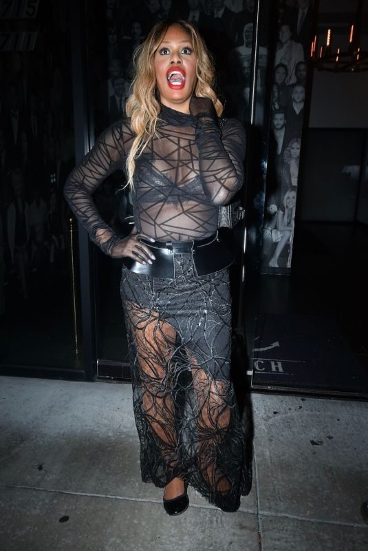 LAVERNE COX at Diddy's Ciroc Vodka Christmas Party in West Hollywood 12/22/2018