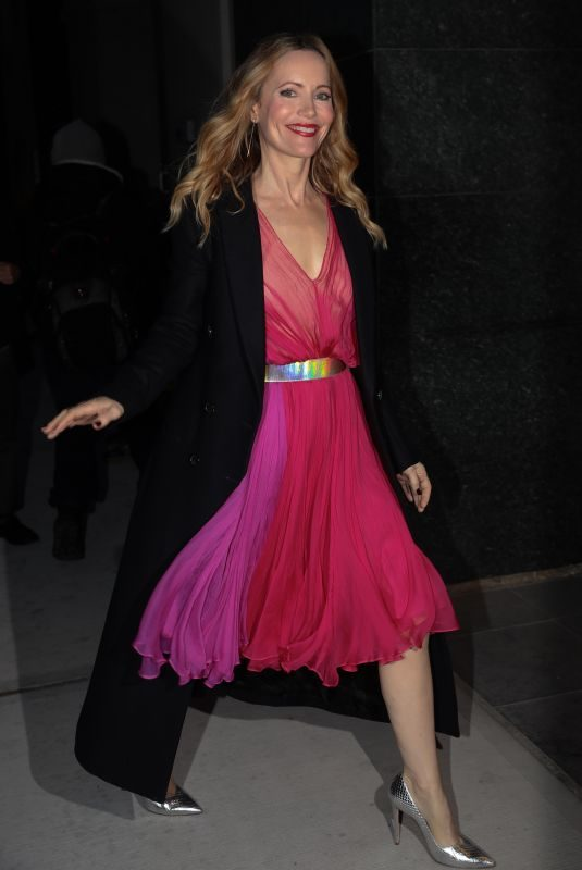 LESLIE MANN Arrives at Watch What Happens Live in New York 12/13/2018
