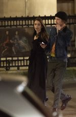 LILY COLLINS and Harry Treadaway Night Out in London 12/04/2018