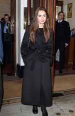 LILY COLLINS at True West Play Opening in London 12/04/2018