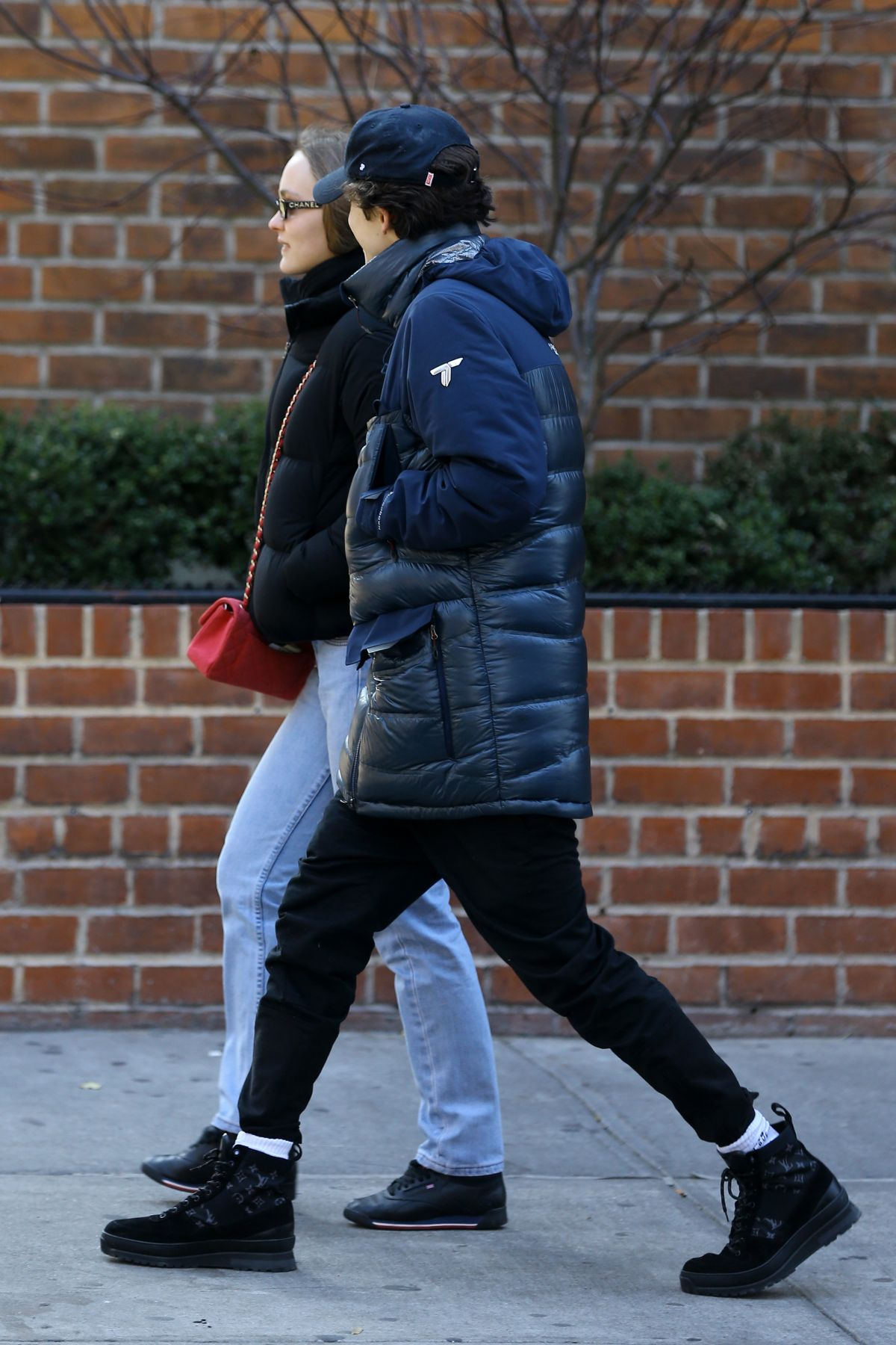 LILY-ROSE DEPP and Timothee Chalamet Out in New York 12/11