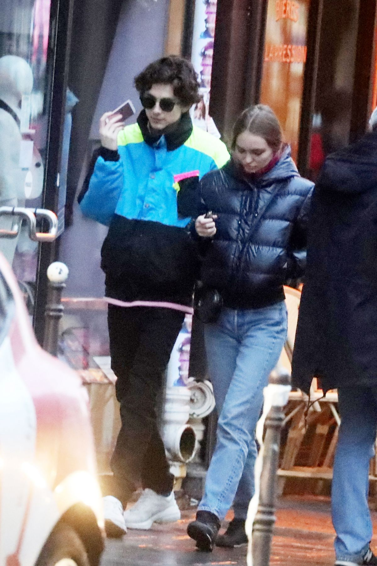 Lily Rose Depp And Timothee Chalamet Out In Paris 12 22 2018 Hawtcelebs