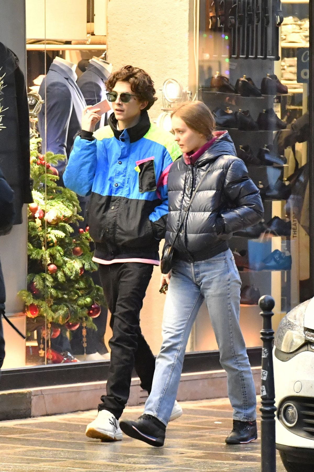LILY-ROSE DEPP and Timothee Chalamet Out in Paris 12/22/2018
