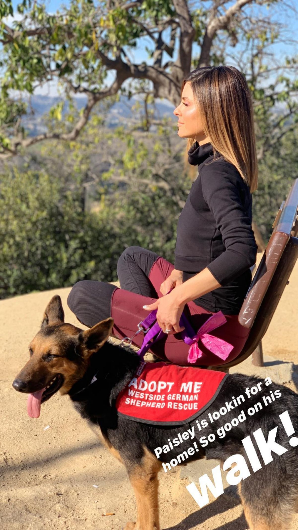 MARIA MENOUNOS Out Hiking In Hollywood 12/16/18 Instagram