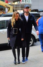 MILEY CYRUS and Liam Hemsworth Arrives at NBC Studios in New York 12/15/2018