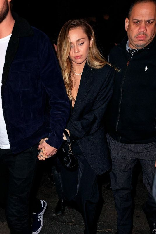 MILEY CYRUS Arrives at SNL Afterparty in New York 12/15/2018