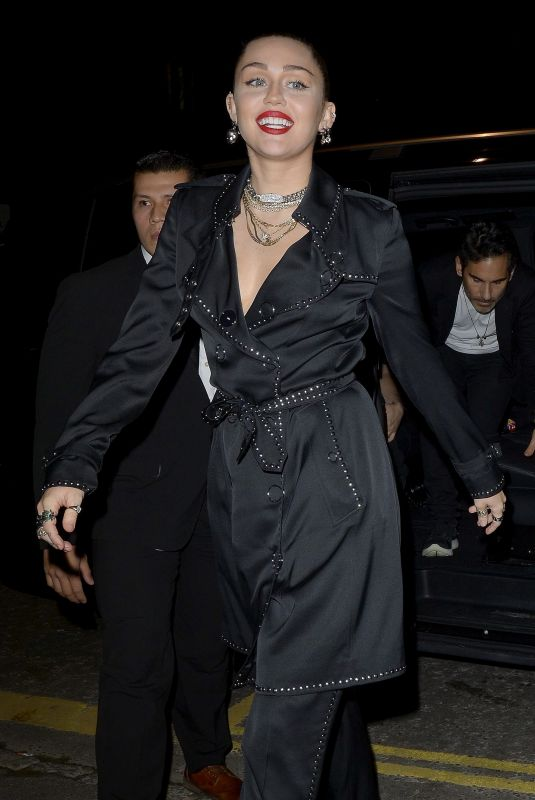 MILEY CYRUS at Burberry x Vivienne Westwood Party in London 12/07/2018