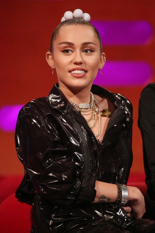 MILEY CYRUS at Graham Norton Show in London 12/06/2018