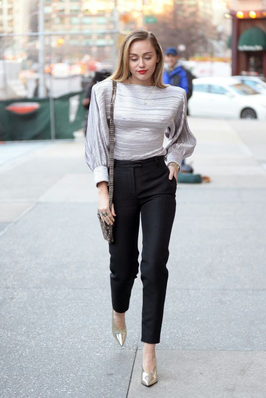 MILEY CYRUS at Z100 Radio Station in New York 12/10/2018