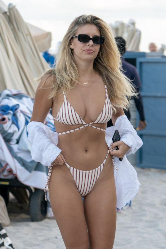NATASHA OAKLEY in Bikini at a Beach in Miami 12/07/2018