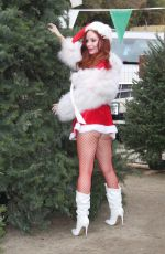PHOEBE PRICE Dressed Like Santa at a Christmas Tree Farm 12/14/2018