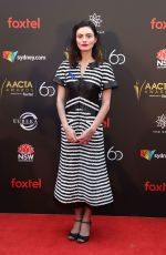 PHOEBE TONKIN at Aacta Awards Presented by Foxtel in Sydney 12/05/2018